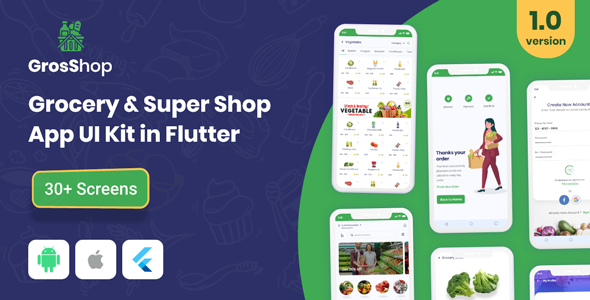 [Free Download] GrosShop – Grocery and SuperShop App UI Kit (Nulled) [Latest Version]