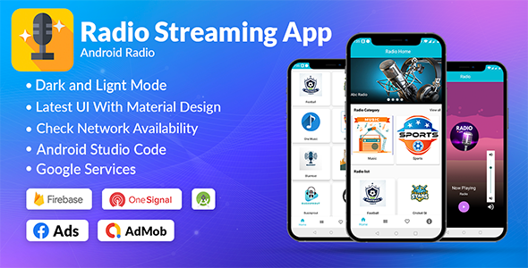 [Free Download] Radio App Android Online | Admob, Facebook, Startapp (Nulled) [Latest Version]