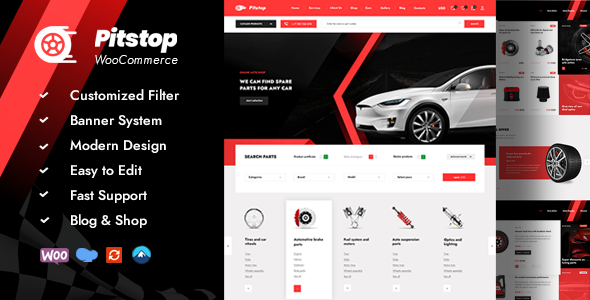[Free Download] Pitstop – Auto Parts WooCommerce WordPress Theme (Nulled) [Latest Version]
