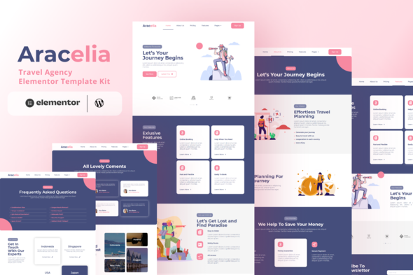 [Free Download] Aracelia – Travel Agency Elementor Template Kit (Nulled) [Latest Version]