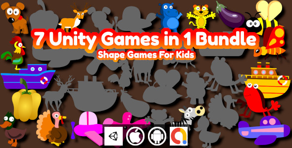 [Free Download] Edukida – 9 Unity Shape Matching Games in 1 Bundle With Admob For Android and iOS (Nulled) [Latest Version]