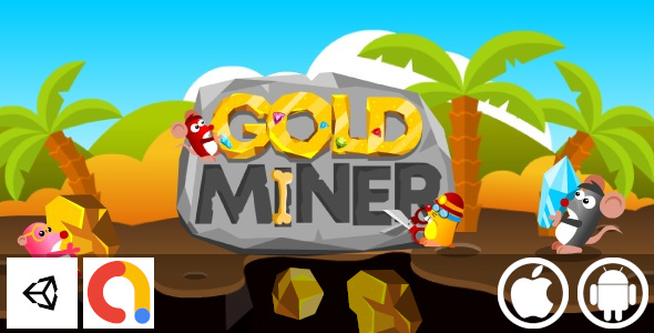 [Free Download] Gold Miner – Unity Casual Game With Admob For Android and iOS (Nulled) [Latest Version]
