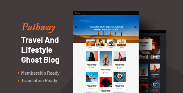[Free Download] Pathway – Travel & Lifestyle Ghost Blog Theme (Nulled) [Latest Version]