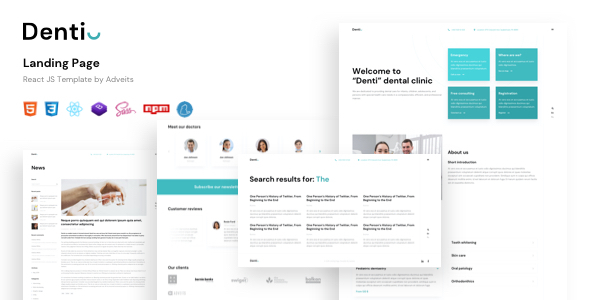[Free Download] Denti – Landing page React JS Template (Nulled) [Latest Version]