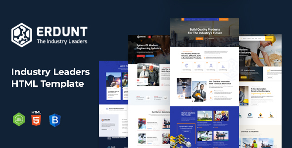 [Free Download] Erdunt – Industrial Business HTML Template (Nulled) [Latest Version]