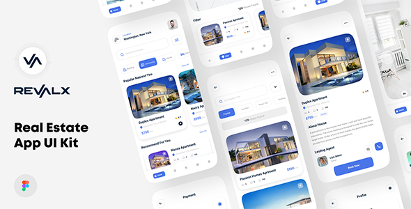 [Free Download] Revalx – Real estate app UI kit For Figma (Nulled) [Latest Version]