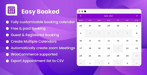 [Free Download] Easy Booked – Appointment Booking and Scheduling Management System for WordPress (Nulled) [Latest Version]