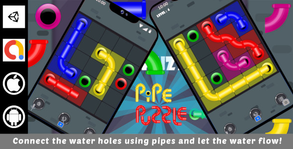 [Free Download] Pipe Puzzle Unity Challenging Game For Android and iOS with Admob (Nulled) [Latest Version]