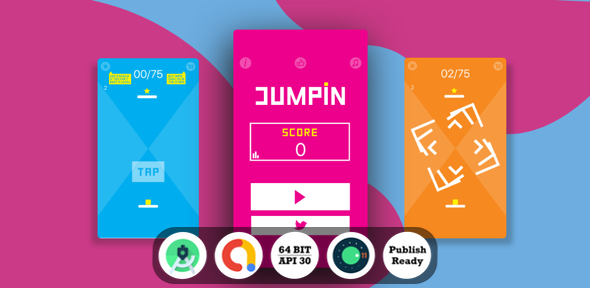 [Free Download] Jumpin Android Game with Admob Ads + reward video + Android Studio + ready to publish (Nulled) [Latest Version]