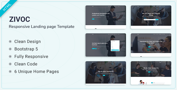 [Free Download] Zivoc – Bootstrap 5 Landing Page Template (Nulled) [Latest Version]