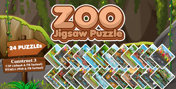 [Free Download] Zoo Jigsaw Puzzle Game (Construct 3 | C3P | HTML5) Admob and FB Instant Ready (Nulled) [Latest Version]