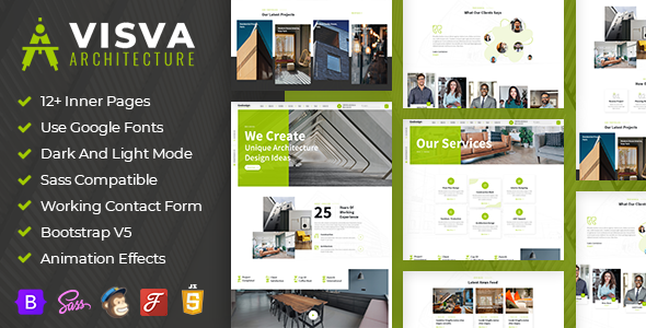 [Free Download] Visva – Architect & Interior Design Bootstrap 5 Template (Nulled) [Latest Version]