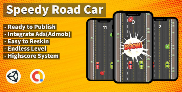 [Free Download] Speedy Road Car (Unity+Arcade+Android+Admob) (Nulled) [Latest Version]