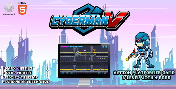 [Free Download] Cyberman V – Construct 2 Html5 Game (Nulled) [Latest Version]
