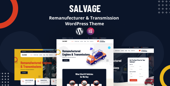 [Free Download] Salvage – Remanufacturer WordPress Theme (Nulled) [Latest Version]