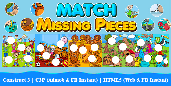 [Free Download] Match Missing Pieces Kids Learning Game with 50 Levels (Construct 3 | C3P | HTML5) Admob and FB Inst (Nulled) [Latest Version]