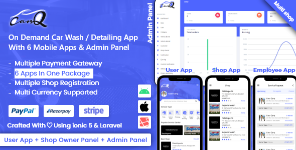 [Free Download] SaaS – On Demand Car Wash Service Booking App – CarQ (Nulled) [Latest Version]