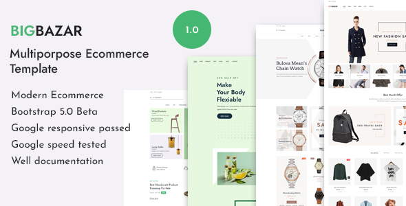 [Free Download] BigBazar – Multipurpose eCommerce HTML Template (Nulled) [Latest Version]