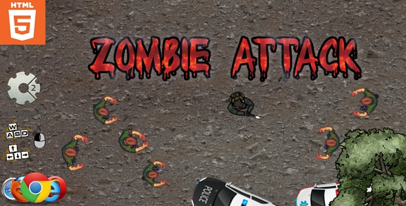 [Free Download] Zombie attack – HTML5 – Survival game (Nulled) [Latest Version]