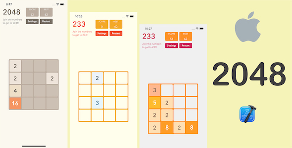 [Free Download] Board Game – 2048 for iOS (Nulled) [Latest Version]