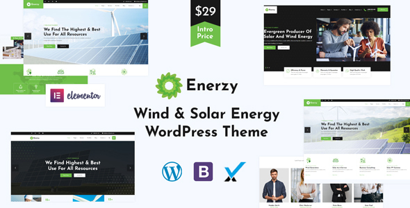 [Free Download] Enerzy – Wind & Solar Energy WordPress Theme (Nulled) [Latest Version]