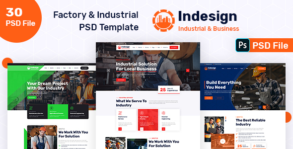 [Free Download] Indesign – Factory & Industrial PSD Template (Nulled) [Latest Version]