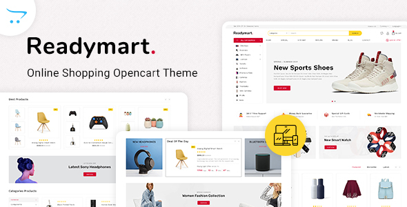 [Free Download] Readymart Electronics Ecommerce multipurpose OpenCart Theme (Nulled) [Latest Version]