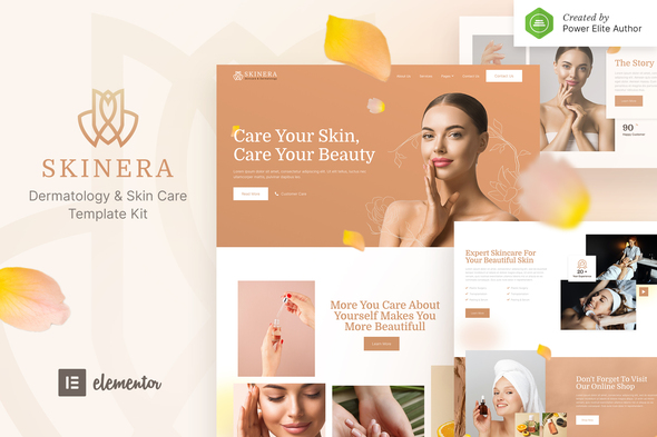 [Free Download] Skinera – Dermatology and Skincare Elementor Template Kit (Nulled) [Latest Version]