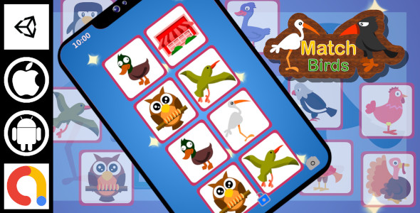 [Free Download] Edukida – Match Birds Unity Kids Educational Game With Admob For Android And iOS (Nulled) [Latest Version]