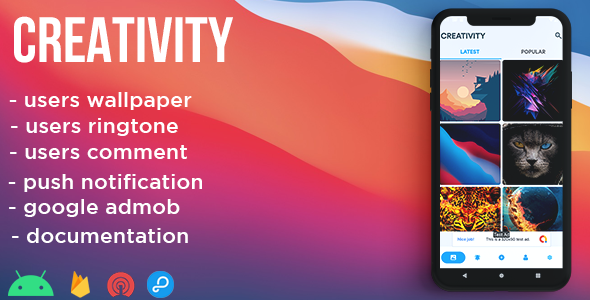 [Free Download] Creativity – wallpaper, ringtone , network (Nulled) [Latest Version]