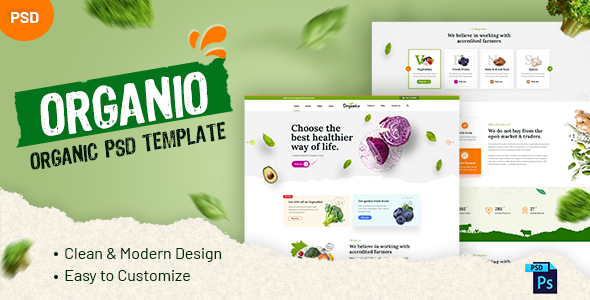 [Free Download] Organio – Organic PSD Template (Nulled) [Latest Version]