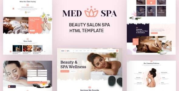 [Free Download] MedSpa – Beauty Salon Spa HTML Template (Nulled) [Latest Version]