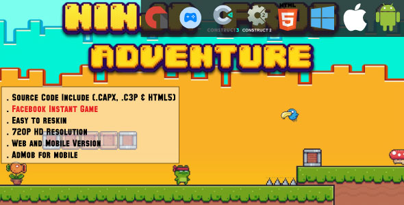 [Free Download] Ninja Frog Adventure – HTML5 Game – Web, Mobile and FB Instant games(CAPX, C3p and HTML5) (Nulled) [Latest Version]