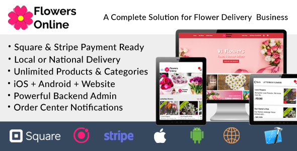 [Free Download] Flowers Florists Floristry Online Bouquet Ordering System (iOs + Android + Onwer App + Web + Admin) (Nulled) [Latest Version]