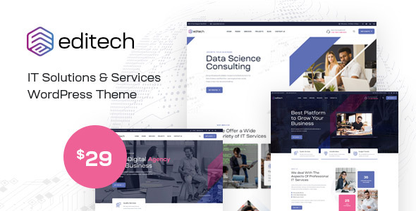 [Free Download] Editech – Corporate Business WordPress Theme (Nulled) [Latest Version]