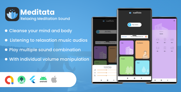 [Free Download] Meditata – Relaxing meditation sounds (Nulled) [Latest Version]