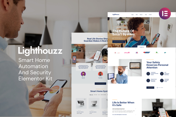 [Free Download] Lighthouzz – Smart Home & Security Elementor Template Kit (Nulled) [Latest Version]