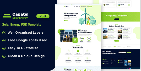 [Free Download] Capatel – Solar Energy PSD Template (Nulled) [Latest Version]