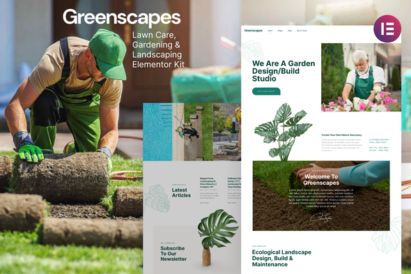 [Free Download] Greenscapes – Gardening & Landscaping Lawn Care Elementor Template Kit (Nulled) [Latest Version]