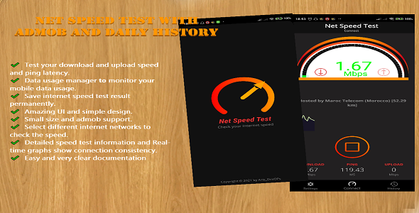 [Free Download] Net Speed Test with Admob and Daily History (Nulled) [Latest Version]