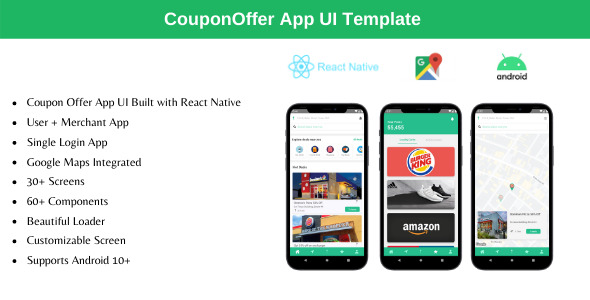 [Free Download] Coupon Offer App – React Native Theme (Nulled) [Latest Version]