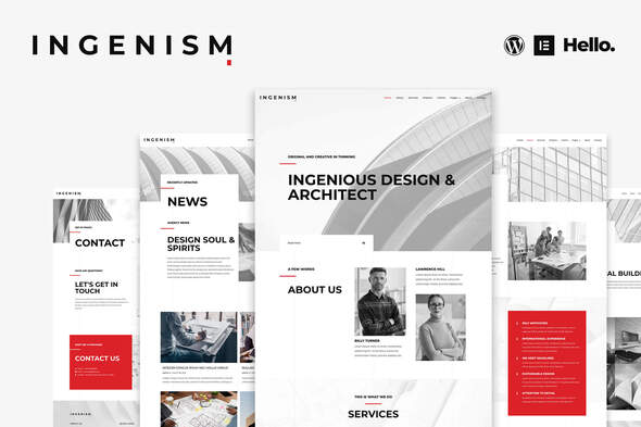 [Free Download] INGENISM – Architectural Design Agency Elementor Template Kit (Nulled) [Latest Version]