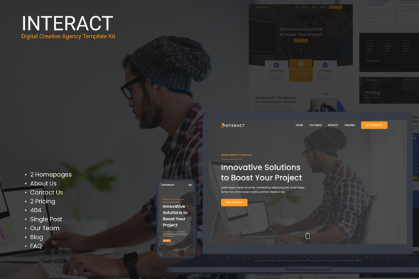 [Free Download] Interact – Digital Agency Elementor Template Kit (Nulled) [Latest Version]