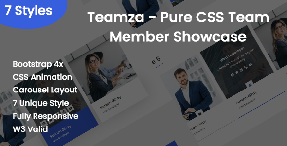 [Free Download] Teamza – Pure CSS Team Member Showcase (Nulled) [Latest Version]