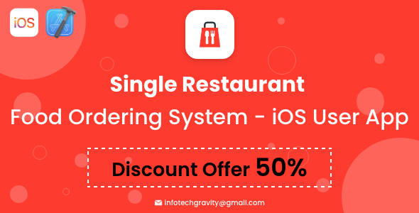 [Free Download] Single Restaurant Food Ordering System – iOS User App (Nulled) [Latest Version]