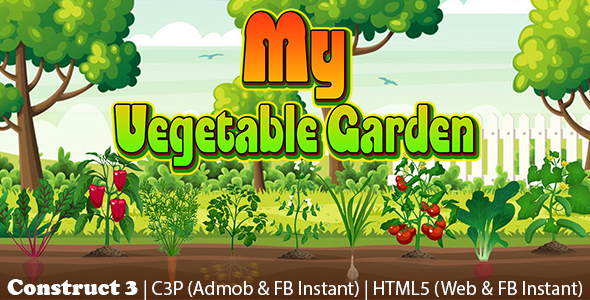 [Free Download] My Vegetable Garden Plantation Game (Construct 3 | C3P | HTML5) Admob and FB Instant Ready (Nulled) [Latest Version]
