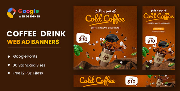 [Free Download] Coffee Google Adwords Banner Google Web Designer (Nulled) [Latest Version]