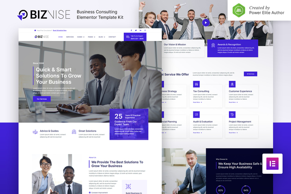 [Free Download] Biznise – Business Consulting Elementor Template Kit (Nulled) [Latest Version]
