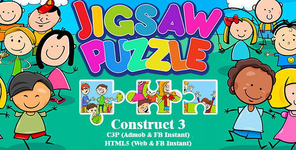 [Free Download] Jigsaw Puzzle Game For Kids (Construct 3 | C3P | HTML5) Admob and FB Instant Ready (Nulled) [Latest Version]