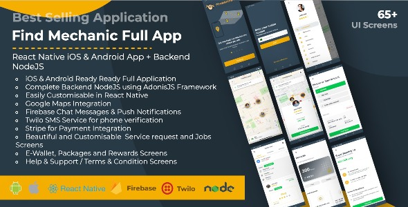 [Free Download] Find Mechanic – Premium React Native Full Application with Backend NodeJS for iOS & Android (Nulled) [Latest Version]
